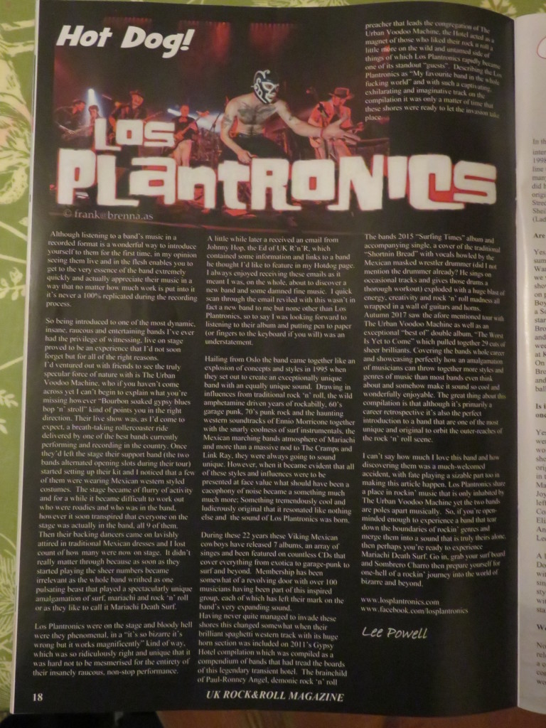UK Rock N Roll full page feature